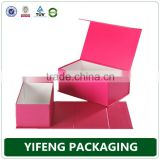 magnetic closure matte black foldable paper packaging boxes/ flat folding cardboard gift box/ collapsible