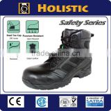 6 inches black leather tactical army boot