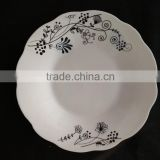 crockery items with porcelain materialceramic dinner plate with cut edge shape porelain dinner set