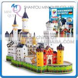 Mini Qute New Swan Stone Castle building block world architecture 3d paper model cardboard puzzle educational toy NO.G168-9