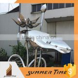 stainless steel garden lotus sculpture