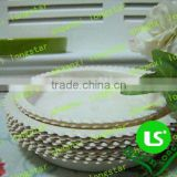 Decorative pattern designed of flower plastic tray