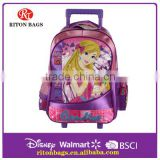 Fashion Best Designer The Beautiful Princess Child Trolley School Bag                                                                         Quality Choice
