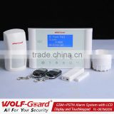 2013 hot&new YL-007M2DX LCD touch screen alarm system dual network burglar alarm system home security alarm system wireless