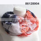 Classic American Flag Design Infinity Scarf Women Ring Circle Scarfs USA Striped and Star Scarves