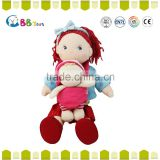 ICS Certified factory Customed Soft Wholesale Gift plush toy a mom with red hair plush soft toys for baby