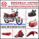 Yam. YBR125 Motorcycle Parts/Air filter, Tail Light, Side Cover, Front Fender
