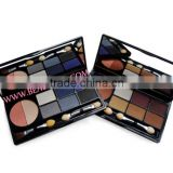 8 color combo portable makeup compact = 5 color shimmer eyeshadow + 1 highlighter + 2 shading powder, eye shadow palette