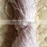 4.5NM 100%polyester/acrylic chenille yarn raw white and dyed on cone