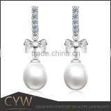 CYW fashion 925 sterling silver imitation pearl drop earrings 925 sterling silver jewellry