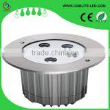 Water resist exterior 12W stainless steel LED inground light