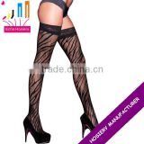 Sexy Women Ultrathin Lace Top Sheer Black Thigh High tights Stockings