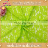 HG0552 2015 latest designs corded nylon knitting lime green lace fabric for dress making