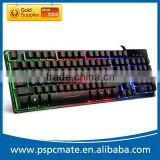 104Keys USB Wired Colorful LED Backlight Game Keyboard