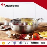 Cheap Charms 26 cm round electric roll top stainless steel chafing dish with lid and spoon