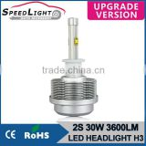 Speedlight Upgrade Version 30W 3600LM 2S H3 LED Headlight Kit