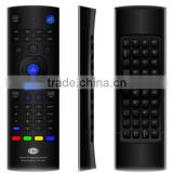 Best quality wireless 2.4G+IR remote control with function qwerty+Air mouse+IR learning for DVB/STB/TV