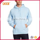 Guangzhou LuoQi 65%Cotton 35%Polyester blank custom men plain dyed long sleeve different kinds of pullover hoodies