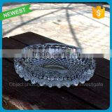 Hot sale high quality office glass ashtray big set ashtray glass wholesale transparent glass ashtray