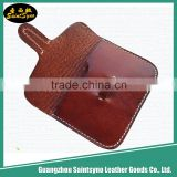Top Factory in Guangzhou Handmade Leather Zipper Coin Purse,leather wallet men coin pocket