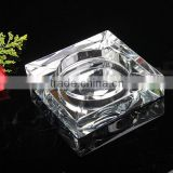 Souvenirs personalized glass crystal ashtray & Pujiang factory Wholesale glass crystal ashtray