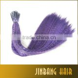 Hot Selling 16'' long 40cm Grizzly feather high quality rooster synthetic straight hair extensions
