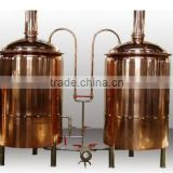 Micro Red copper Beer brewing equipment / Brewery equipment, complete brewery plant, Beer making machine
