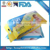 wholesale heat seal side gusset custom printing baby wet tissue packaging                                                                                                         Supplier's Choice