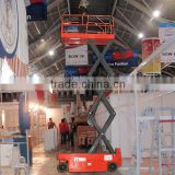 Hot sale four-wheel removable scissor lift,power pack unit scissor lift,self propelled scissor electric lift table