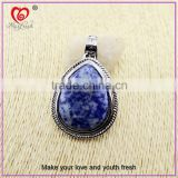 Top design artificial stone jewelry western style large stone jewelry stainless steel big stone jewelry