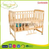 WBC-07A babysbreath comfortable wooden golden swinging baby crib parts