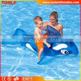 Summer Infant Children Seat PVC Swimming Pool Accessories Transparent Blue Whale Inflatable Water toy