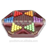 Wooden Chinese Checker Chinese Draughts With Six Colors Wooden Beads Dia 1.6cm