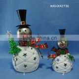 Snowman candle holder online table decoration christmas                                                                         Quality Choice