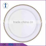 Cheap Best Selling Top Quality glass beaded charger plate                                                                         Quality Choice