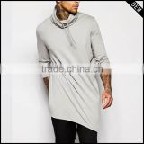 softtextile custom tshirt with Drawstring cowl neck and Asymmetric hem Cut longer than standard length.                                                                         Quality Choice