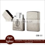 Double Torch Lighter cohiba cigar tool refillable cigarette lighter with good packing