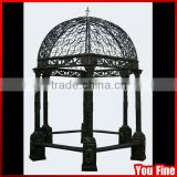 Garden Decorative Wrought Iron Gazebo For Sale