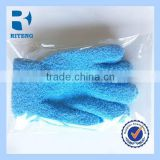 colourful skin care body wash gloves