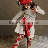 2015Wholesale Children's boutique Clothing Sets ChristmasToddler Giggle Moon Remake Set little girls boutique remake clothing se