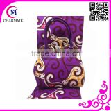 purple color WB-0047 african wax prints fabric 6 yards for big party or big wedding Dress