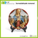 Catholic the Virgin Mary and Baby Jesus figurine painted plate decoration christianity religious gift