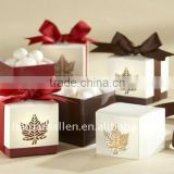 Customized candy box with ribbon decoration