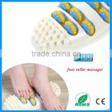 Health Care Oval Shape 4 Row Reflexology foot Massager Roller Round Foot Plantar Acupoint Massage Body Feet Device