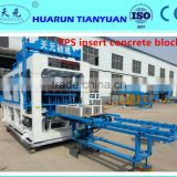 automatic thermal insulation EPS insert wall plastering machine /concrete block making machine