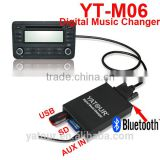 Yatour yt-m06 digital music changer car radio system support memory/mp3 aux virtual cd player