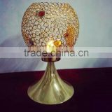 Gold Wedding Centerpiece/ Tabletop/ Metal &Crystal Candle Holder/ Tealight Candle Holder