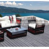 Latest collection fasionable black and red outdoor rattan sofa