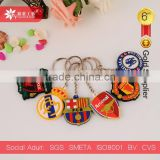 football club soft pvc keychain pvc rubber key chain
