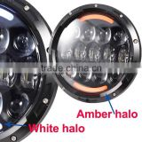 white DRL and amber turning function H4 H13 powerful 105w high low light for jeep wrangler jk